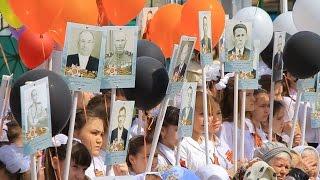 Марш посвященный 71-летию Дня Победы.(пос.Нижняя Мактама,8 мая 2016)