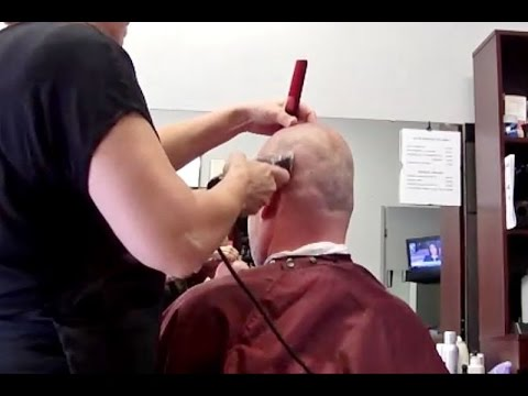 A head Blending shaved