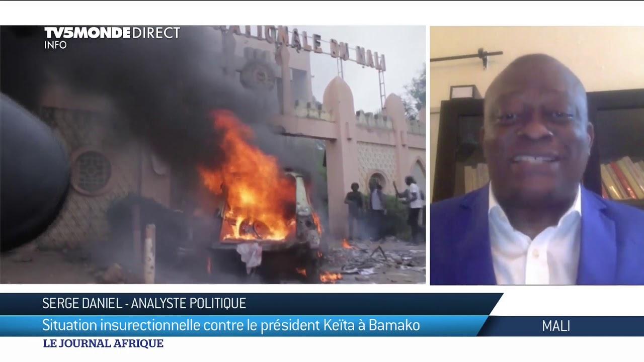 Mali : situation insurrectionnelle contre le Président Keïta - YouTube