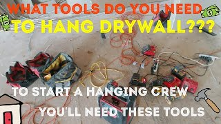 What tools do you need to hang drywall.  DIY drywall and tool set up for sheetrock