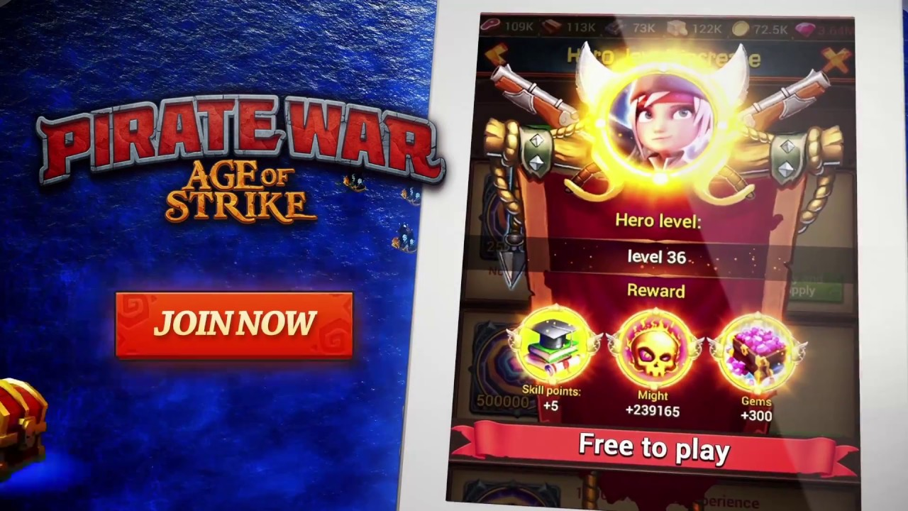 Pirate War: Age of Strike (Playwar Strategy Game official video)