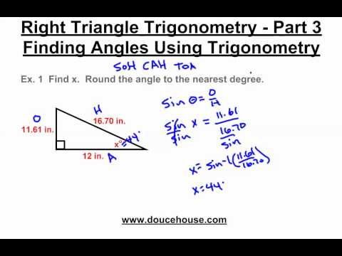 Right Triangle Trigonometry - Finding Angles (Inverse Functions)