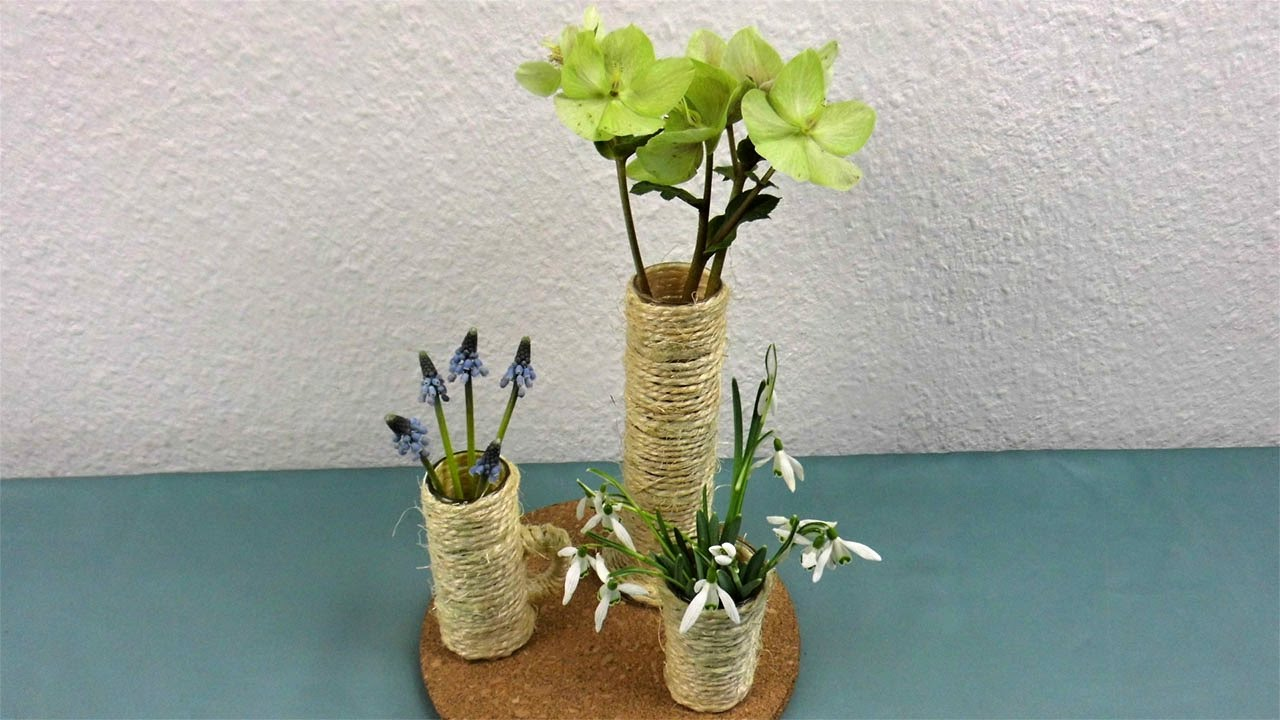 diy tischdeko im winter mit blumen deko ideen mit flora shop youtube. Black Bedroom Furniture Sets. Home Design Ideas