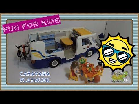 La caravana de los playmobil youtube for Autocaravana playmobil