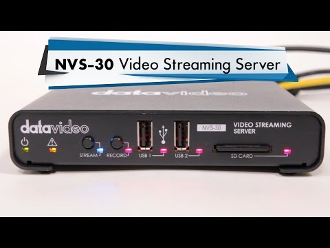 Datavideo NVS-30 Video Streaming Encoder/Recorder Setup Tutorial Guide