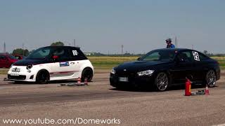 300Hp Fiat 500 Abarth VS BMW M4 Drag Race 1/4 Mile