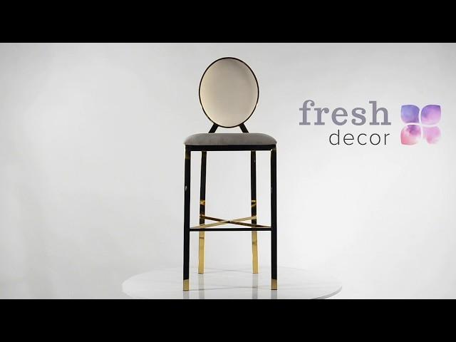 Барный высокий золотой стул из нержавеющего металла удобный и качественный. Стулья для дома, мейкапа