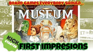 Museum (Kickstarter) - How To Play / First Impressions