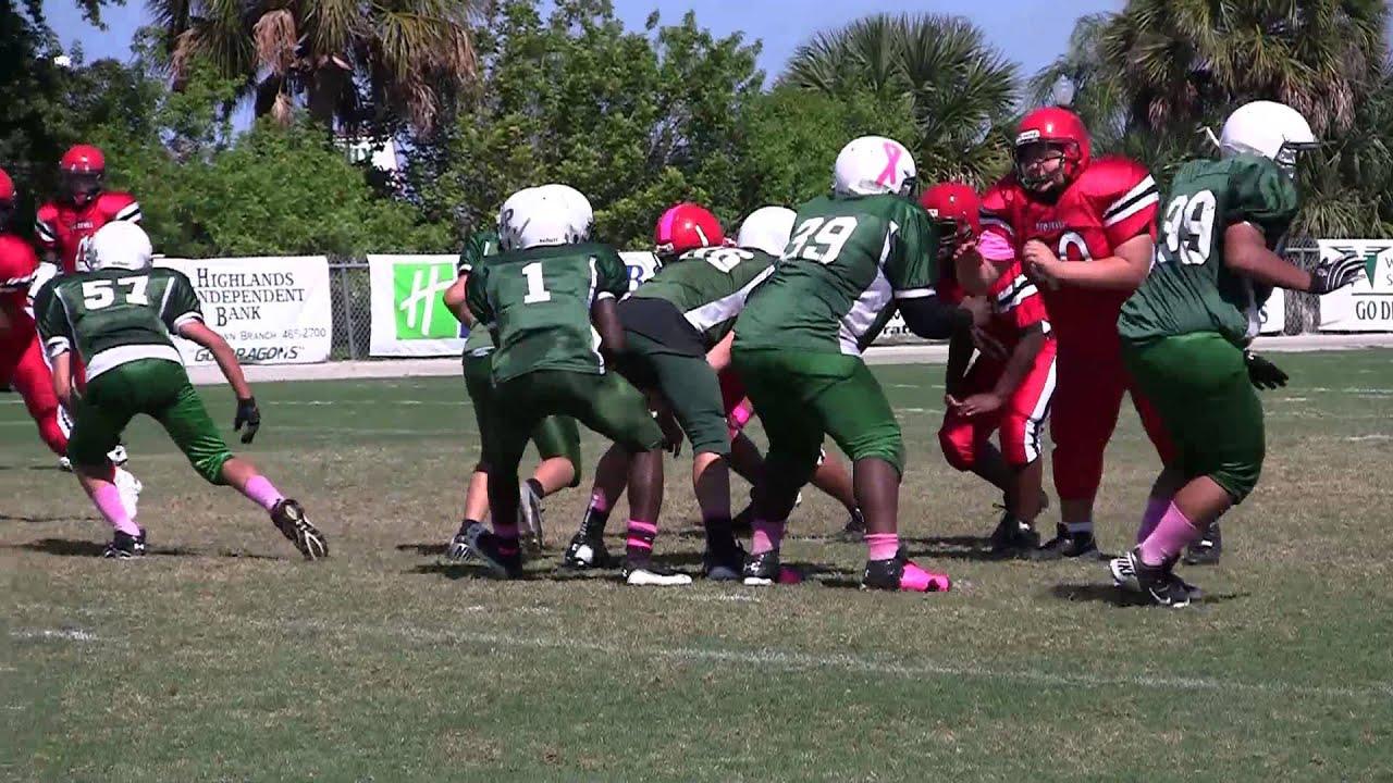 Avon Park vs Lake Placid Youth Football Video Clips - YouTube
