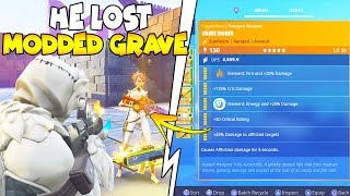 He Lost Modded Grave Digger Worth Lots 😱 (Scammer Gets Scammed) Fortnite Save The World