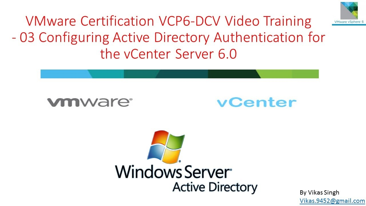 Vmware Certification Vcp6 Dcv Training 03 Configuring Ad