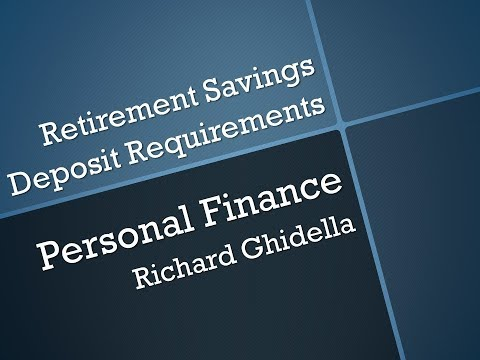 Lecture 31-Retirement Savings Deposit Requirements