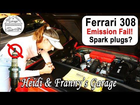 The Ferrari FAILED Emissions! Sparkplug fail?