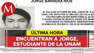 Hallan a Jorge Barrera, joven de Prepa 5 que desapareció tras broma de compañeros
