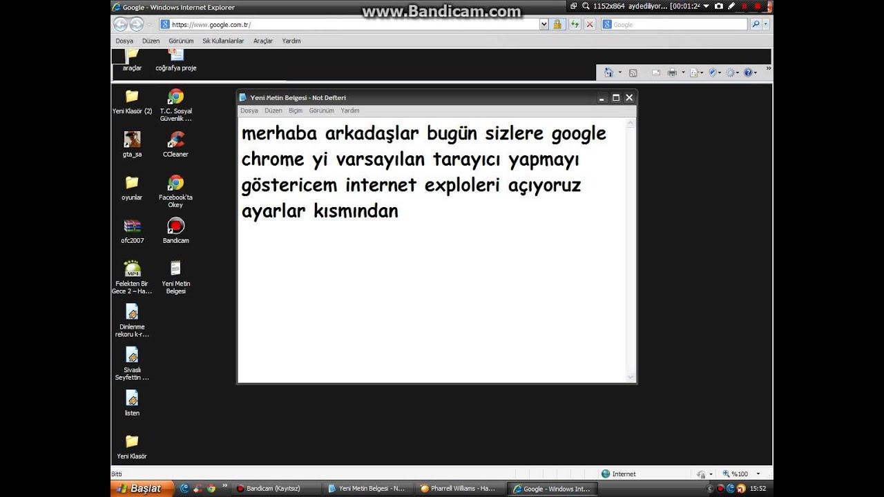 Chromeu varsayılan tarayıcı nasıl yapılır