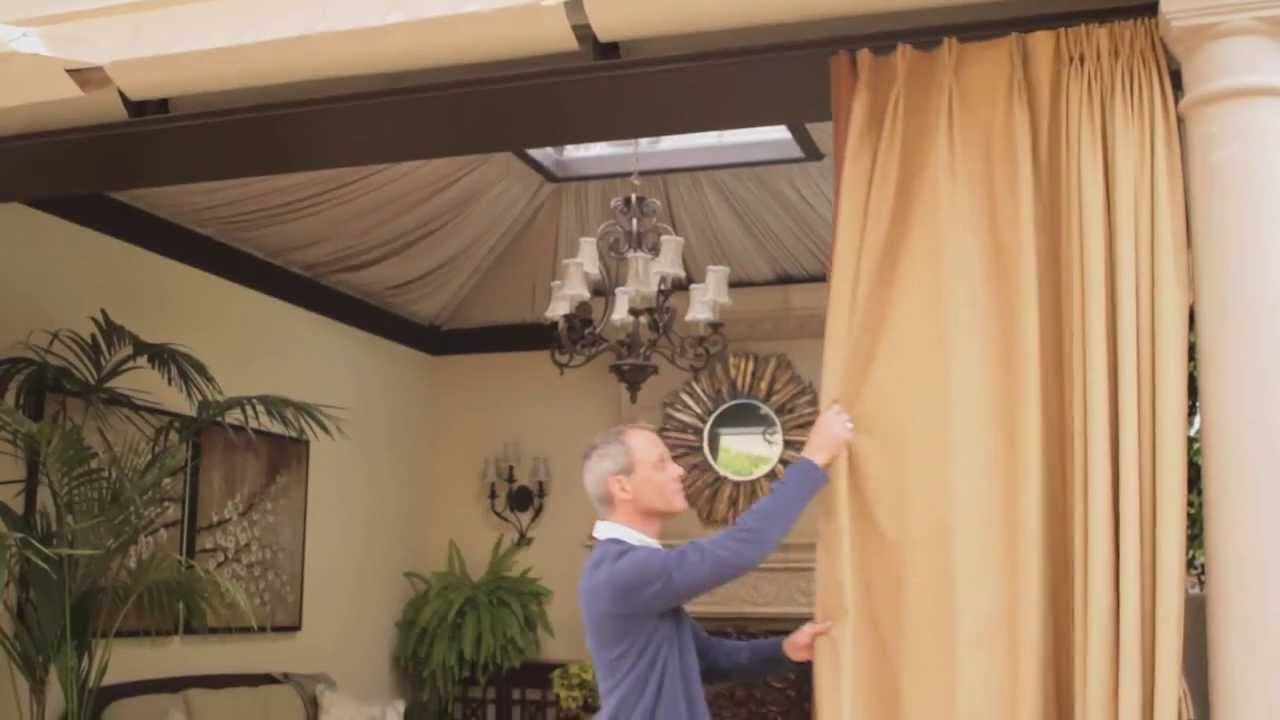 Outdoor Curtains Blinds Ehow Youtube