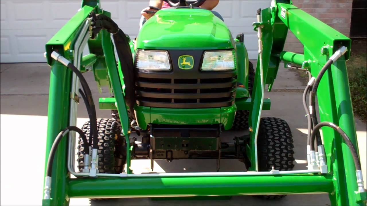 Attaching The John Deere 45 Front End Loader Youtube 748 Wiring Diagram