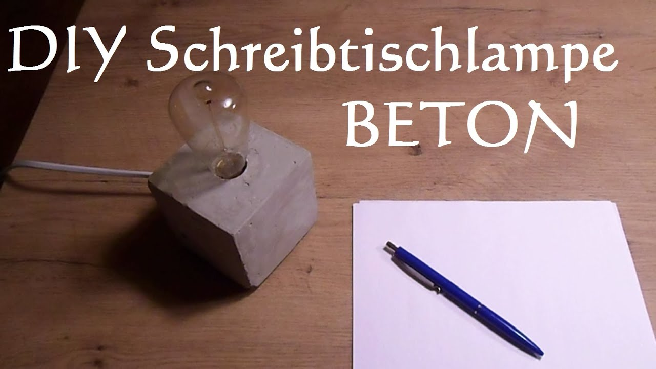 diy schreibtischlampe aus beton selber machen betonlampe gie en youtube. Black Bedroom Furniture Sets. Home Design Ideas