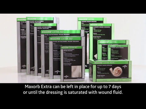 How to apply Medline Maxorb Extra CMC/Alginate Sheet Wound Dressings?