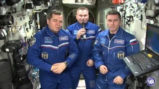 Обращение космонавтов с МКС в честь проведения «Гагаринского урока»