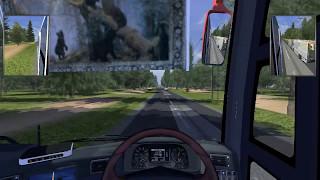 ets 2 bus santoso jbhd2 ngeblong with klakson telolet map legiunnaire2 v26