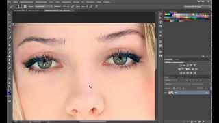 Сменить цвет глаз и волос в фотошопе