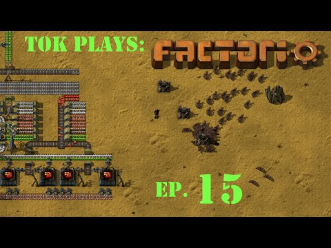 Tok plays Factorio 0.12 - ep. 15 - Trains, Solar, and More!