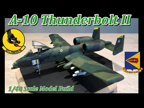 Building the Tamiya 1/48 Scale A-10 Thunderbolt II Strike Aircraft