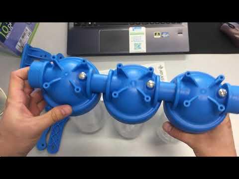 """ATLAS Filtri DP 10 Trio 1/2"""" 3/4"""" 1"""" Тройные магистральные фильтры для холодной воды"""