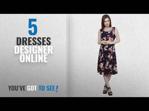 Top 10 Dresses Designer Online [2018]: Vastrasutra Women's Dress