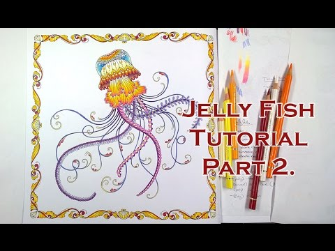 Colouring Tutorial JellyFish In Lost Ocean Part 2