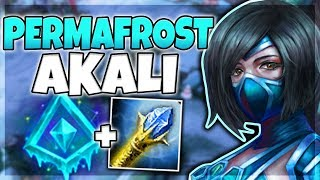PERMAFROST AKALI IS SO BUSTED! (PERFECT KDA) SEASON 8 AKALI TOP GAMEPLAY! - League of Legends