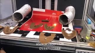 I scan v250 Ayakkabı delik kesim perfore galvo lazer makinesi