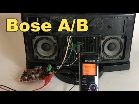 A/B Testing Bose SoundDock Series 2 against generic amp board