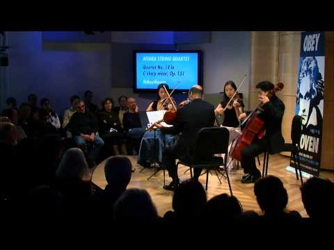 Beethoven's String Quartet No. 14 in C-Sharp minor, Live in The Greene Space