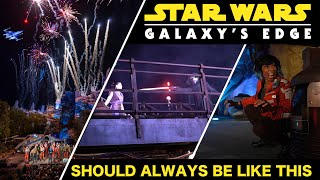 OMG Galaxy's Edge Should Be Like THIS Every Day! X-Wing Drones, Lightsaber Battles & More