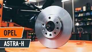 Fitting Brake rotors set OPEL ASTRA H Saloon (L69): free video