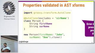 Apache Groovy, What's New? - Singapore Java User Group