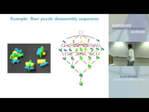 """David Eppstein - """"Structures in solution spaces: three lessons from Jean-Claude"""""""