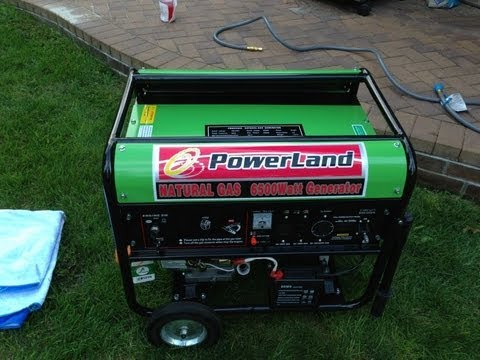 Powerland Portable Natural Gas Generator 6500 Watt