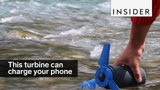 This turbine uses water to charge your phone