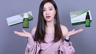 Review Serum Trị Mụn Tràm Trà Naruko Tea Tree Shine Control Blemish Clear Serum - Tracy Trinh