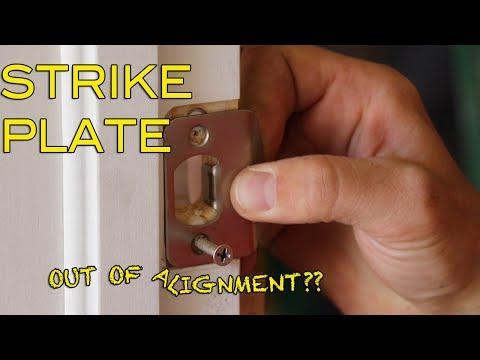 How To Fix Strike Plate & Door Alignment: Tutorial