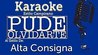 Pude Olvidarte - Karaoke - Alta Consigna thumbnail
