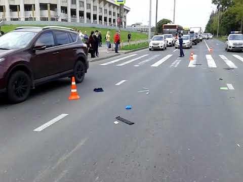 Видео с места ДТП с двумя погибшими в Череповце