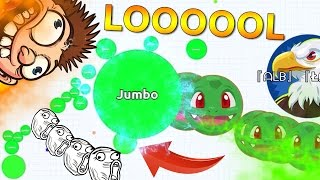 HE ALMOST DID IT !? - Solo Agario Gameplays | Agar.io