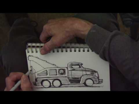 Idea Sketch for MoTown Tow Truck wood toy