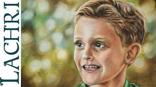 Speed Painting Child portrait in oil paint - Time Lapse Demo by Lachri