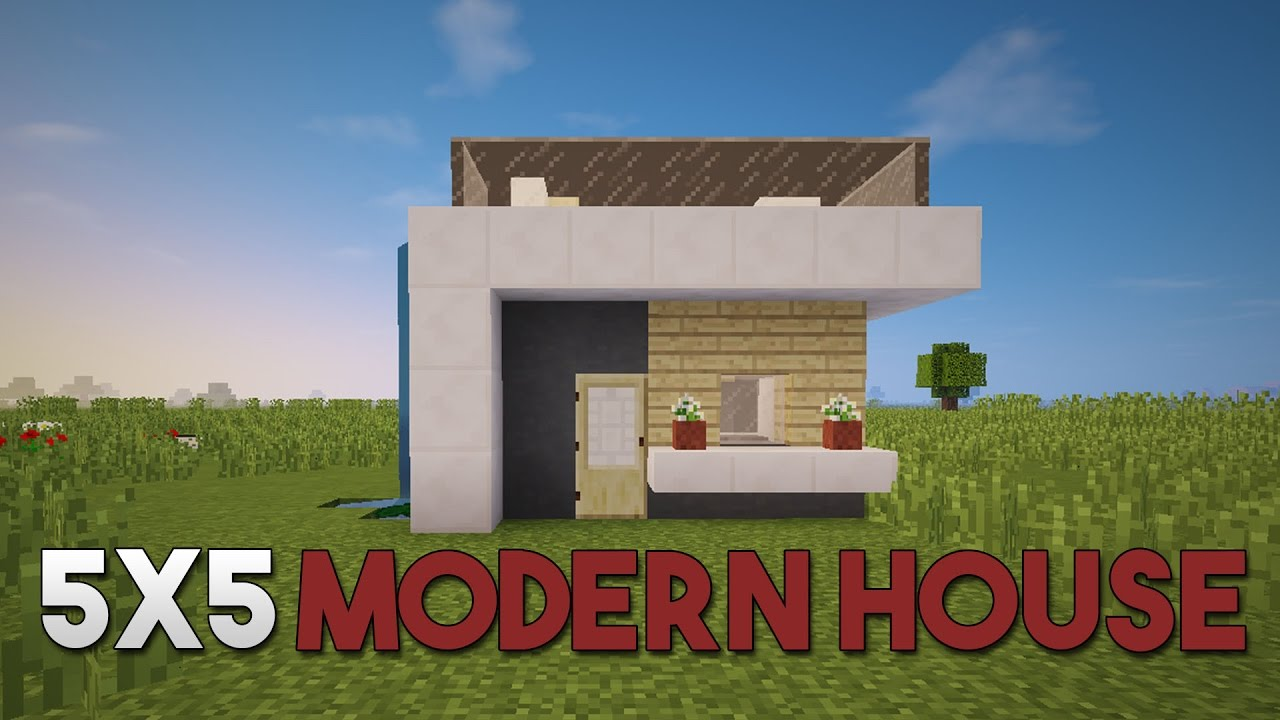 Minecraft Compact X Modern House How To Build A Realistic - Minecraft modern house 5x5