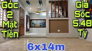 Bán nhà Gò Vấp giá rẻ |Nhà GÓC 2 MẶT TIỀN cực thoáng DT rộng rãi 5x14m nở hậu 6m|giá siêu rẻ 5.48 tỷ